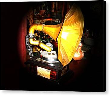 Classic Victor V Phonograph Canvas Print by Al Bourassa