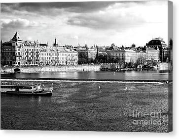 Canvas Print featuring the photograph Classic Vltava River by John Rizzuto