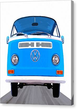 1960 Canvas Print - Classic Vw Van - On The Road Again by Mark Tisdale