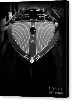 Classic Wooden Boat 2 Canvas Print by Perry Webster