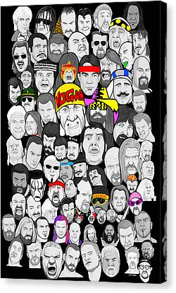 Classic Wrestling Superstars Canvas Print by Gary Niles