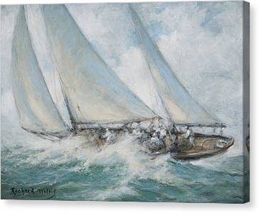 Fast Shipping Canvas Print - Classic Yacht  Twixt Wind And Water by Richard Willis