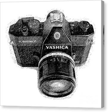 Classic Yashica Slr Film Camera Canvas Print by Edward Fielding