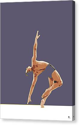 Classical Ballet Dancer Canvas Print by Joaquin Abella