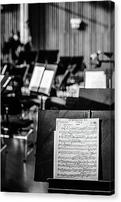 Classical Sheet Music Canvas Print by Marco Oliveira