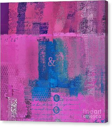 Fushia Canvas Print - Classico - S0307d by Variance Collections