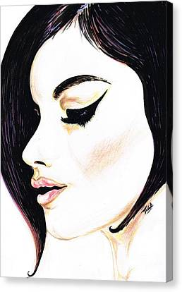 Classy Lady Canvas Print by Teresa White