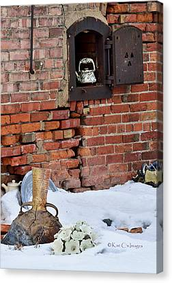 Canvas Print featuring the photograph Classy Pottery Remnants by Kae Cheatham