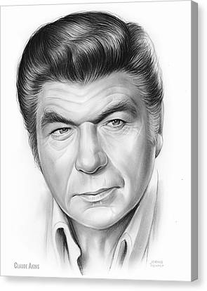 Claude Akins Canvas Print by Greg Joens