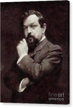 Claude Debussy, Composer By Sarah Kirk Canvas Print