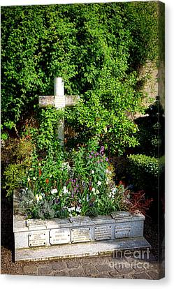 Claude Monet Grave In Giverny Canvas Print by Olivier Le Queinec