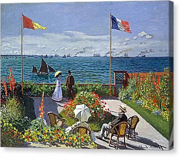 Claude Monet - The Garden At Sainte-adresse Canvas Print