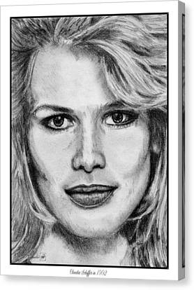 Claudia Schiffer In 1992 Canvas Print by J McCombie