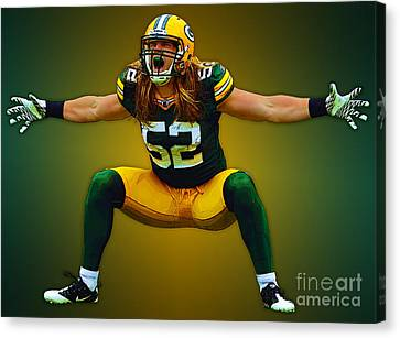 Clay Matthews Canvas Print by Herb Paynter