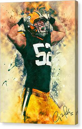 Clay Matthews Canvas Print