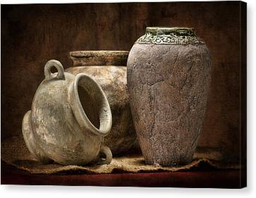 Clay Pottery II Canvas Print by Tom Mc Nemar