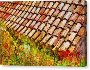 Clay Tiles Canvas Print by George Rossidis