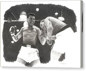 Clay Vs Liston 1 Canvas Print by Noe Peralez