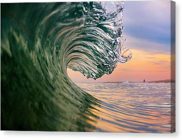 Clean Wave Canvas Print by Ryan Moore