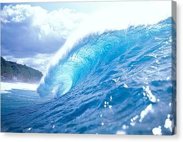Clear Blue Wave Canvas Print by Vince Cavataio - Printscapes