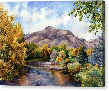 Canvas Print featuring the painting Clear Creek by Anne Gifford