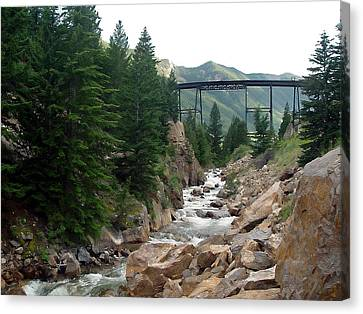 Clear Creek Colorado Canvas Print by John Bushnell