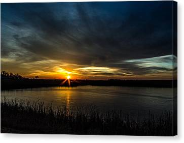Clear Lake Sunset Canvas Print by AllScapes Photography