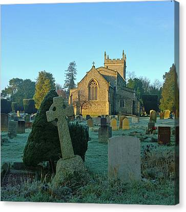 Clear Light In The Graveyard Canvas Print by Anne Kotan
