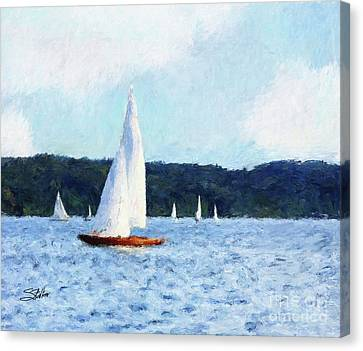 Clear Sailing Canvas Print by Shirley Stalter