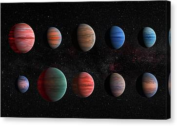 Clear To Cloudy Hot Jupiters Canvas Print