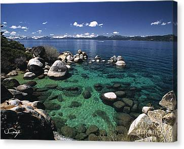 Clear Water Lake Tahoe Canvas Print by Vance Fox
