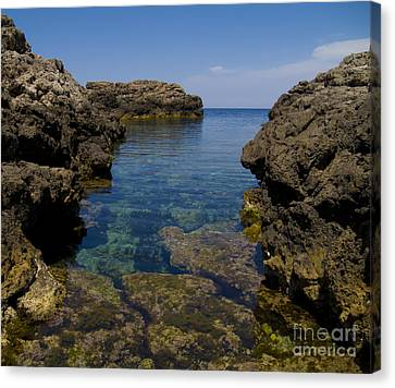 Clear Water Of Mallorca Canvas Print