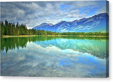 Canvas Print featuring the photograph Clear Waters At Lake Annette by Tara Turner