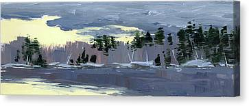 Clearing Canvas Print by Mary Byrom