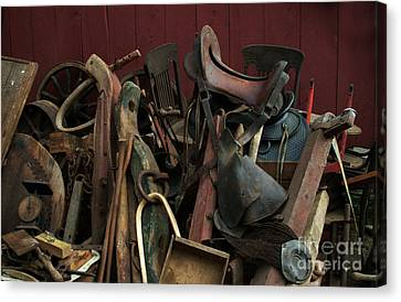 Clearing Out The Barn Study 1 Canvas Print by Georgia Sheron