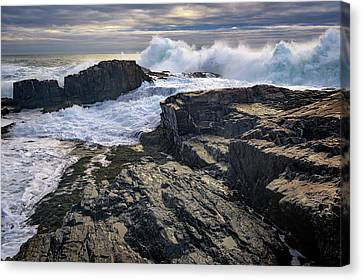 Clearing Storm At Bald Head Cliff Canvas Print by Rick Berk