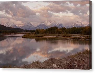 Clearing Canvas Print - Clearing Storm At Oxbow Bend by Sandra Bronstein