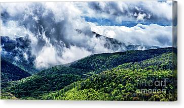 Canvas Print featuring the photograph Clearing Storm Highland Scenic Highway by Thomas R Fletcher