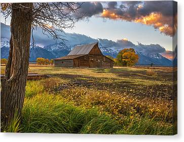 Darren Canvas Print - Clearing Storm Over Moulton Barn by Darren White