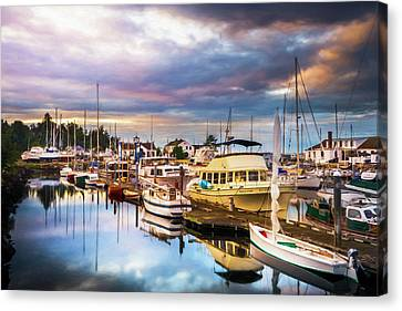 Clearing Storm Over The Pacific Ocean Canvas Print by TL Mair