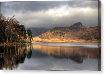 Clearing Weather At Blea Tarn Canvas Print by Terry Roberts Photography
