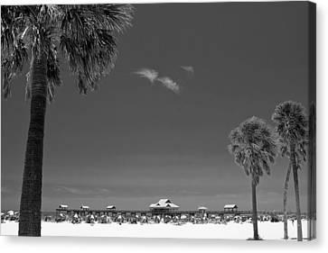 Clearwater Beach Bw Canvas Print by Adam Romanowicz