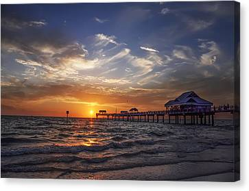 Clearwater Beach Seascape Canvas Print by Bill Cannon