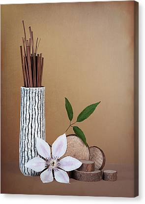Clematis Flower Still Life Canvas Print
