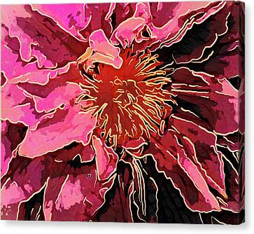 Clematis Up Close And Personal Canvas Print