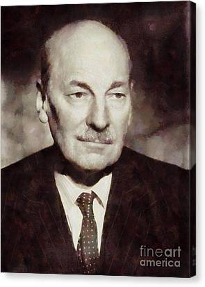 Famous Literature Canvas Print - Clement Attlee, Prime Minister United Kingdom By Sarah Kirk by Sarah Kirk