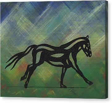Clementine - Abstract Horse Canvas Print