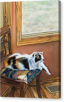 Cleo In The Sun Canvas Print by Laurie Tietjen