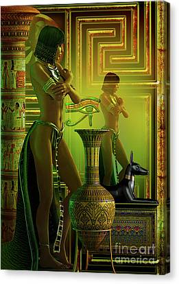 Cleo Reflections Canvas Print by Shadowlea Is