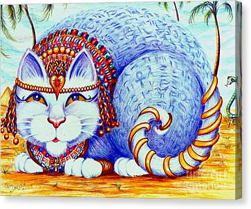 Canvas Print featuring the drawing Cleocatra by Dee Davis